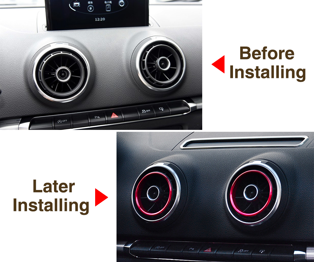 A3 Interieur Us 6 28 23 Off Auto Styling Auto Interieur Accessoires Voor Audi A3 S3 Instrument Bureau Airconditioning Outlet Aluminium Decoratieve Stickers In