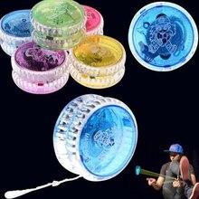 Flashing LED Glow Magic Yoyo Ball Plastic Responsive Yoyos Party Toy for Kids Beginners Learner