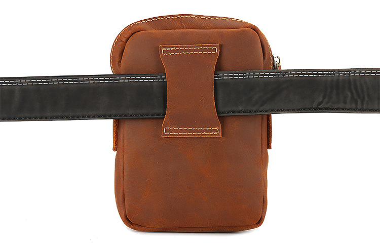 Men 39 s Bag work Real Leather brown Shoulder Bag 5 5 Inch Mobile Phone Bag Business Portafolios Bolso Hombre Briefcase in Crossbody Bags from Luggage amp Bags