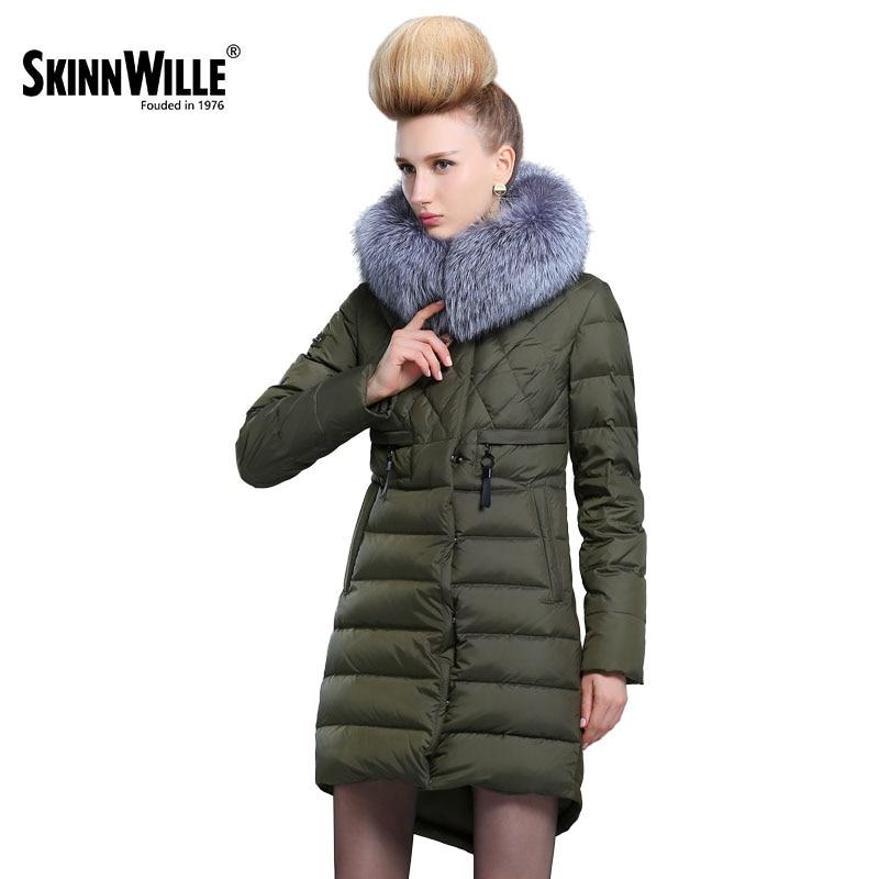 Skinnwille 2017Women's winter jacket Coat female Winter Jackets With Hood Women's Park sintepon jacket for the winter Women's