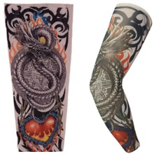 1PCS Men And Women Fake Body Art Temporary Tattoo Sleeves Arm Leg Stocking