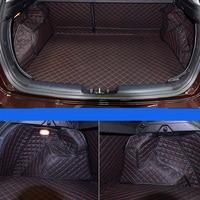 lsrtw2017 fiber leather car trunk mat for kia forte 2012 2013 2014 2015 2016 2017 kia k3 kia cerato