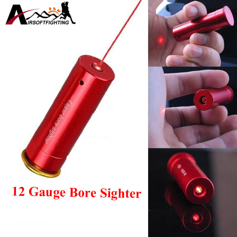 Red Laser Bore Sight 12 Gauge Barrel Cartridge Sight For 12GA Caliber Hunting Scopes Riflesighter Hunting Optics цена