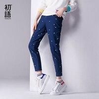 Toyouth Pantalon Mujer 2018 Mode Gedruckt Knöchellangen Hosen Beiläufigen Mittleren Taille Der Hose Frauen Bleistift Füße Hosen Größe S ~ XL