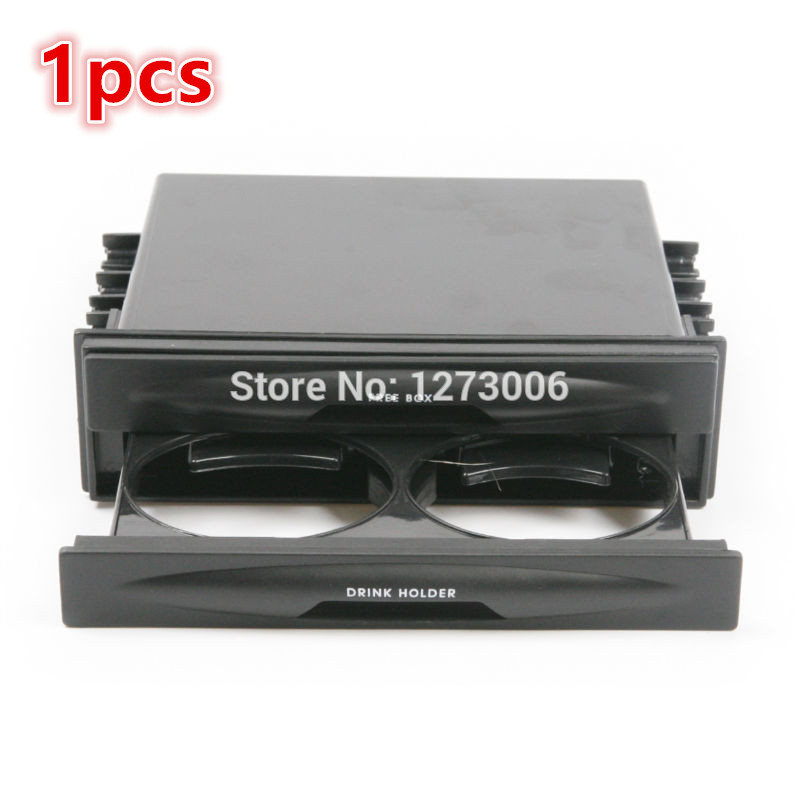 New Black 1Pcs CX-38 Car Auto Kit Double Din Radio Pocket Storage Box Tray Holder Drawer Car Styling 180MM* 50MM* 120MM