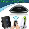 Broadlink casa inteligente inalámbrico universal smar rm3 pro + detector de calidad del aire de control remoto a1 + inalámbrico de pared interruptor de la luz tc2 2 gang