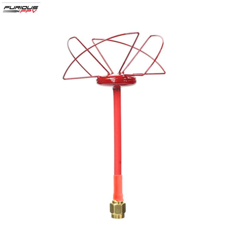 FuriousFPV 2.4GHz 1.3dBi RHCP/LHCP Circular FPV Antenna SMA Male for FPV Racing RC Drone Transmitter Spare Part Accessories hot new aomway ant019 5 8 ghz 8 dbi y antenna sma male for fpv racing drone for rc multirotor fpv system spare parts accessories