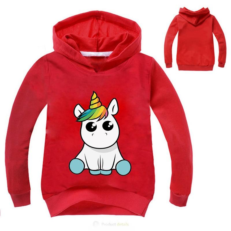Children Boys Girls Cartoon unicorn Sport Hoodies T Shirt Outerwear Children Kids School Sweatershirt Outfits Clothing Top Tees in Hoodies Sweatshirts from Mother Kids