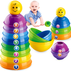Free Shipping Baby toy Folding Cup Baby Toy Puzzle Bowl Set