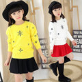2017 new winter children's sweaters,Casual girl Cotton Outerwear,kids casual Snowflake pattern warm Pullover sweater