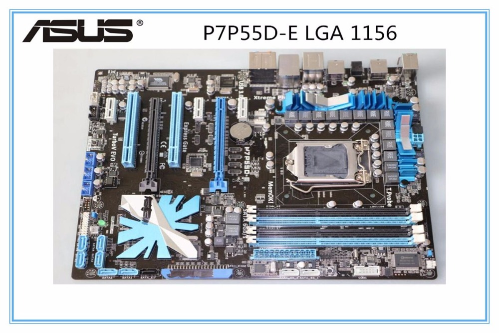 ASUS P7P55D-E motherboard DDR3 LGA 1156 USB2.0 USB3.0 for I5 I7 CPU 16GB P55 Desktop motherborad Free shipping(China)