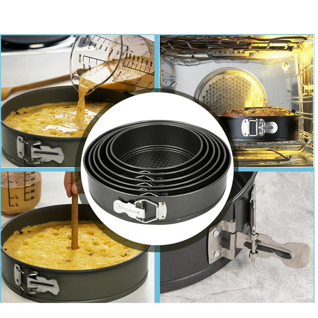 7/ 8/ 9 inch Carbon Steel Non-stick Springform Pan Cheesecake Pan Round Cake Pan Bakeware Cake Baking Moulds Kitchen Accessories