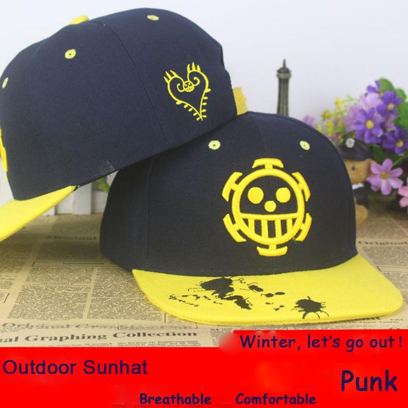 Anime One Piece Trafalgar Law cotton baseball cap Sun hat cosplay gift Hip-hop 2015 NEW FASHION