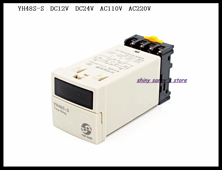 цена на Upgrades YH48S-S DH48S-S DC12V DC24V AC110V AC220V Multifunction Digital Timer Relay On Delay 8 Pins SPDT Repeat Cycle Brand New