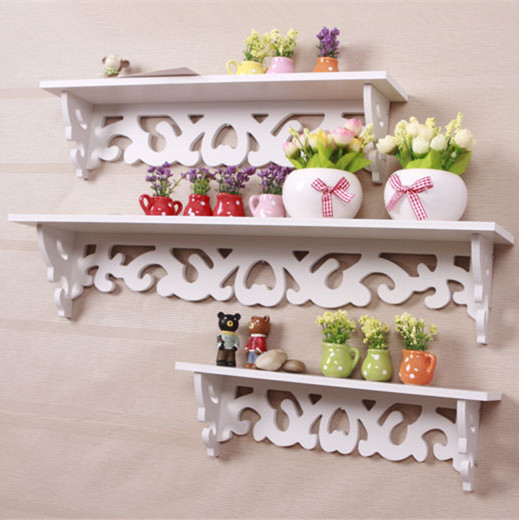 Diy Rococo Furniture White Wall Shelf Bookcase Bookshelf Hanger Decor
