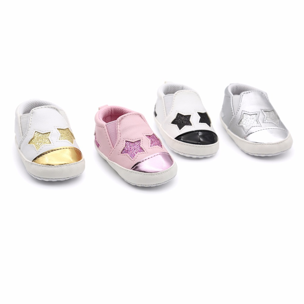 New Fashion Star Baby shoes Newborn Boys Girls First Walkers Infant Toddler  Soft Bottom Anti slip Prewalker Sneakers Crib shoes-in First Walkers from  Mother ... d8ce77143d1c