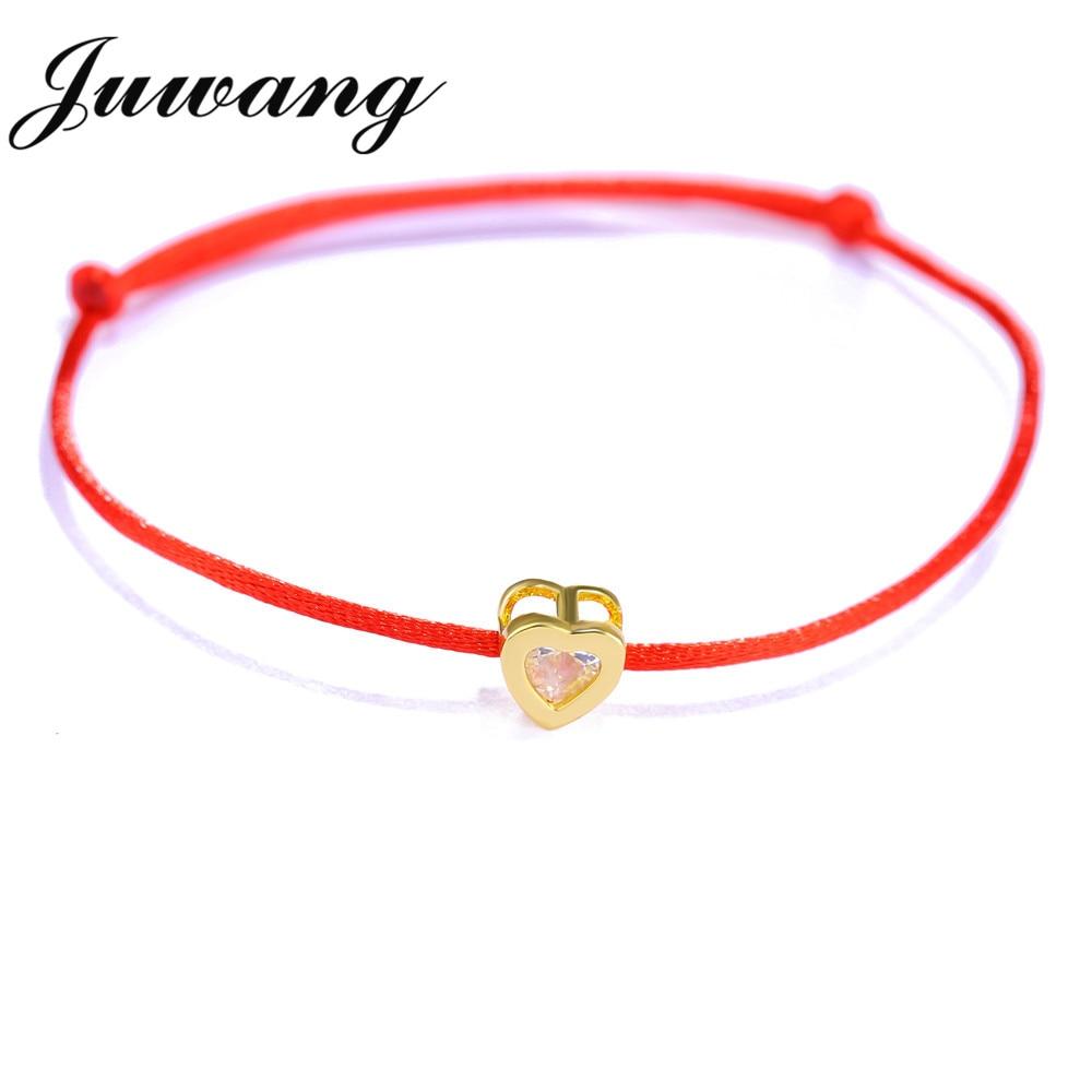 Aliexpress Ju Lucky Red String Heart Bracelets Bangles For Women Children Adjule Handmade Bracelet Diy Jewelry Friendship Gift From