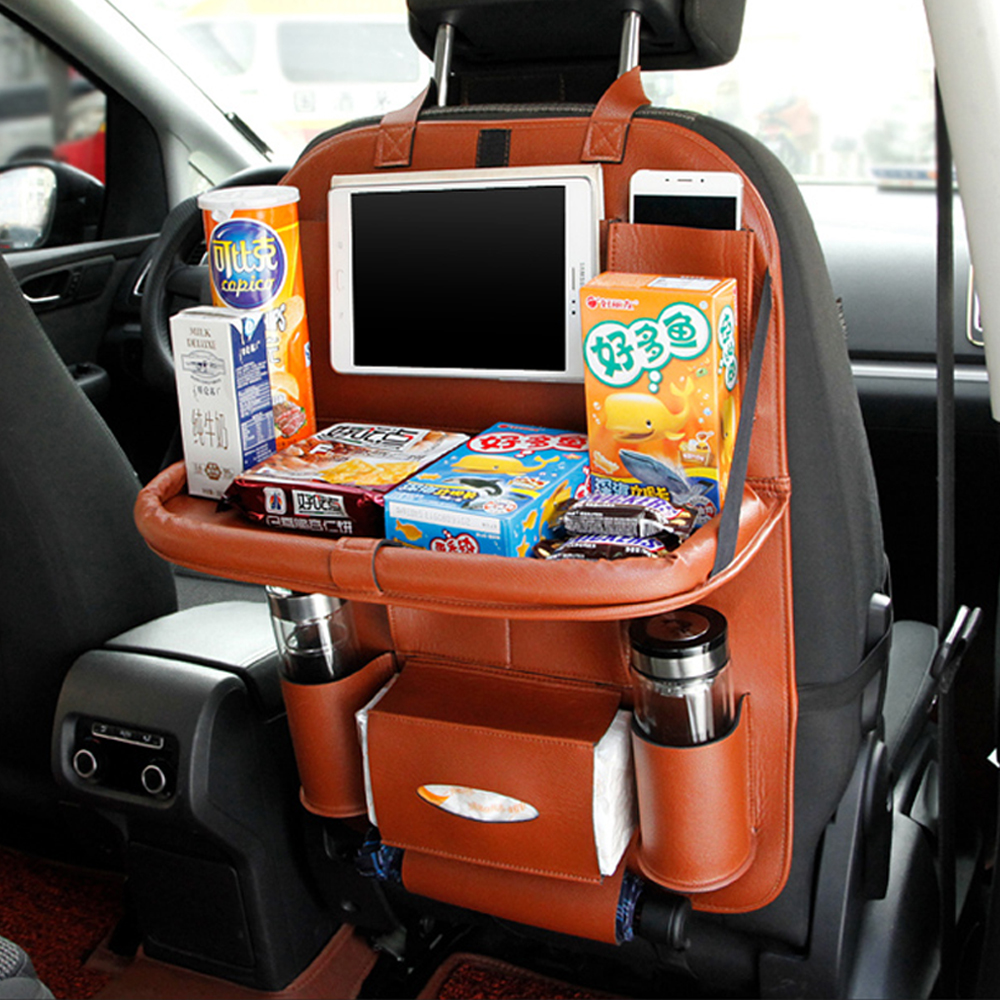 ̀ •́ multi-función del coche asiento trasero organizador alimentos