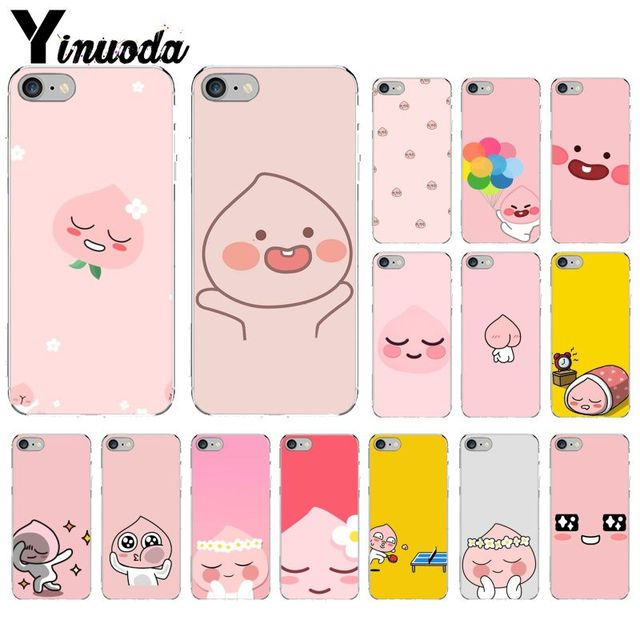 premium selection 236a3 f6454 US $0.58 47% OFF|funny cocoa kakao friends apeach Pattern TPU Phone  Accessories Cell Phone Case for iPhone X XS MAX 6 6S 7 7plus 8 8Plus 5 5S  XR-in ...