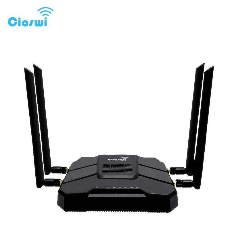Gigabit openWRT Routeur WiFi Avec SIM Fente Pour Carte 1200 Mbps 2.4g/5 ghz 512 mb Double Bande 4g LTE 3g Modem Routeur Sans Fil Répéteur