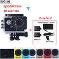 "2.0"" 4K SJCAM Sj5000 Series SJ5000X Elite WiFi 30M Waterproof Sports Action Camera Sj Cam DV+2 Battery+Dual Wall+Car Charger"