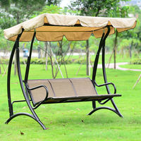 Гавайи Прочная Железная 3 человек навес садовые качели кресло гамак чехол для уличной мебели сиденье