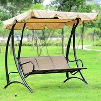 Гавайи прочный железный 3 человек навес садовые качели кресло гамак мебель крышка сиденье
