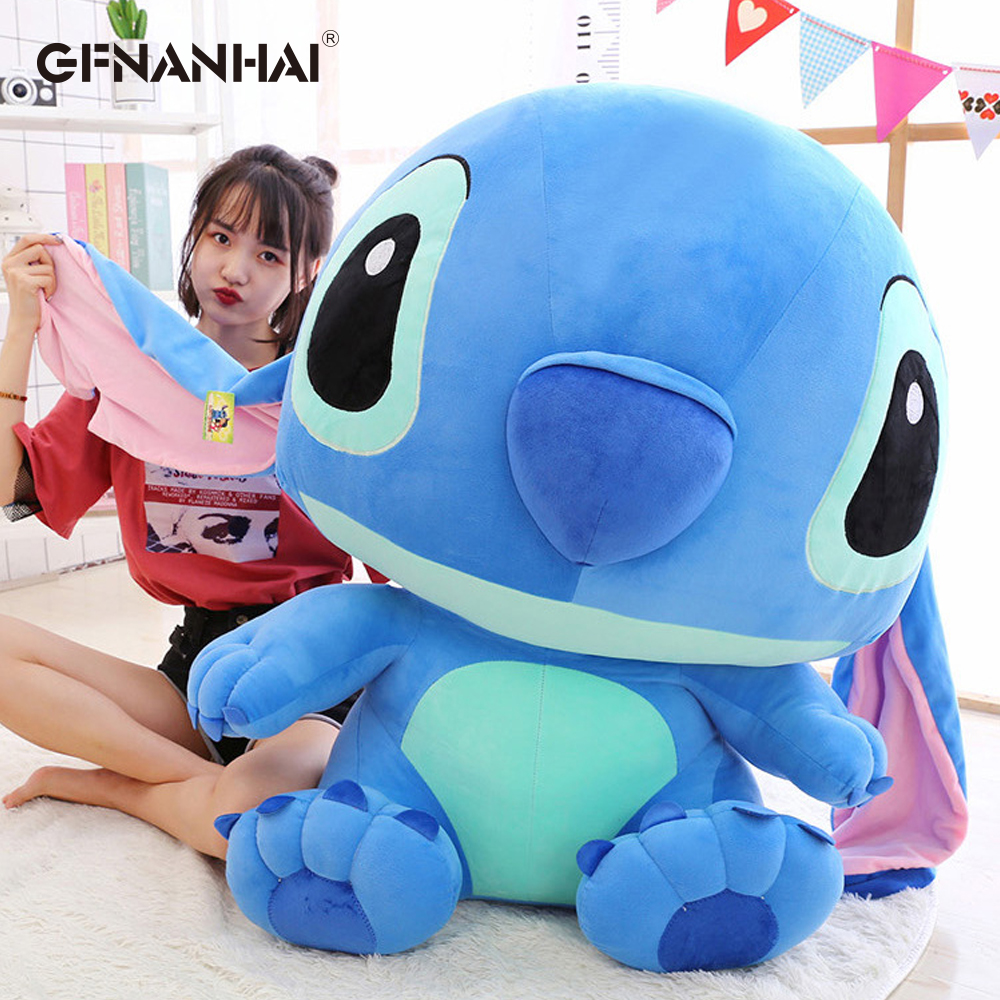 1pc 65cm Big Stitch Lilo & Stitch Plush Toy Lovely Hot Anime Dolls Stuffed Soft Pillow Children Girls Cute Christmas Gift cute 1pair 33cm funny stitch lovely plush car soft headrest vehicle bone rest neck pillow stuffed toy