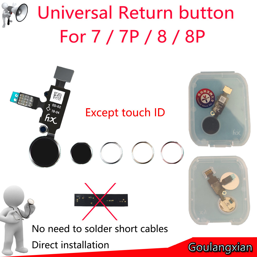 2019 New Design Universal Home Button For IPhone 7 8 7 Plus 8 Plus Flex Cable Restore Ordinary Home Button Return Functions(China)