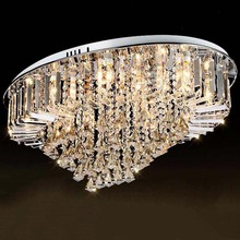 Lustre en cristal, grand lustre moderne, éclairage décoratif de plafond, idéal pour le salon ou le hall, 100% garanti, prix spécial