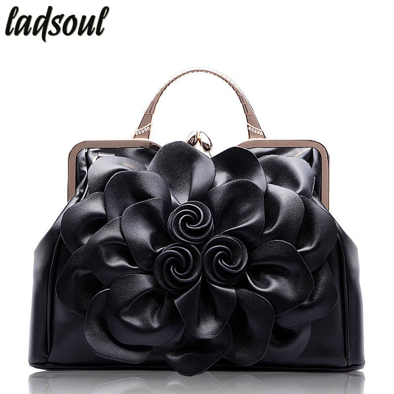 LADSOUL Popular Floral Women Handbags Big Flower Luxury Female Shoulder Bag High Quality Elegant Women Bag Tote Bag Bolsa A733/g