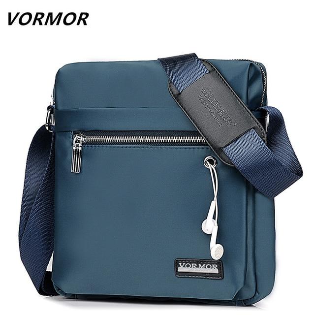 2324a8c78060 VORMOR Classic O Design Business Man Bag Vintage Brand Mens Messenger Bag  Casual Grid Shoulder Bag For Male bolsa Hot