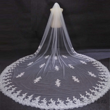 Bridal font b Veils b font 2016 velos de novia 3 Meters 2T White Ivory Sequins