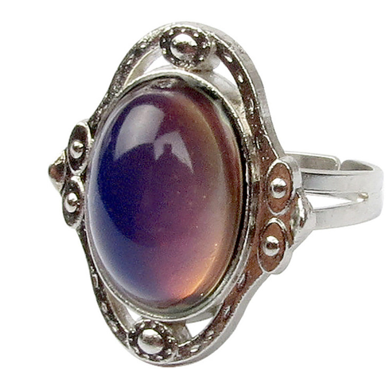 Retro Color Change Mood Ring  Emotion Feeling Changeable Ring Temperature Control Color Rings For Women