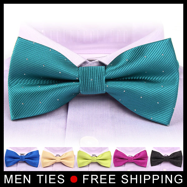 Butterfly Gravata party Mens Bowtie Wedding Brand new fashion popular Bow Tie for Men candy color dot pattern bowknot