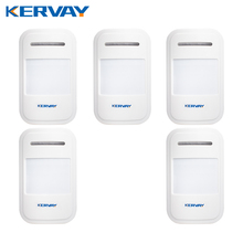 5pcs/Lot 433Mhz Wireless Intelligent PIR Motion Sensor Detector For GSM PSTN Home Alarm System without Antenna Infrared