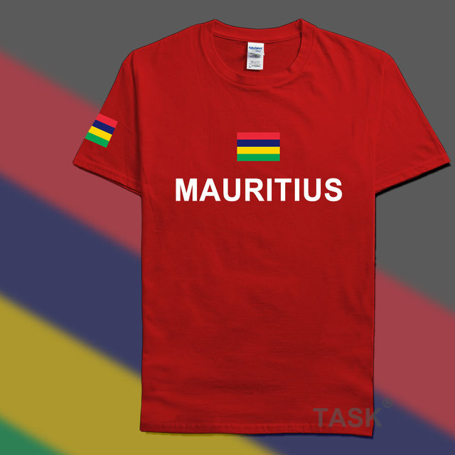 Mauritius Mens T Shirts Fashion 2017 Jerseys 39 Nation Cotton T Shirt Clothing Tees Country