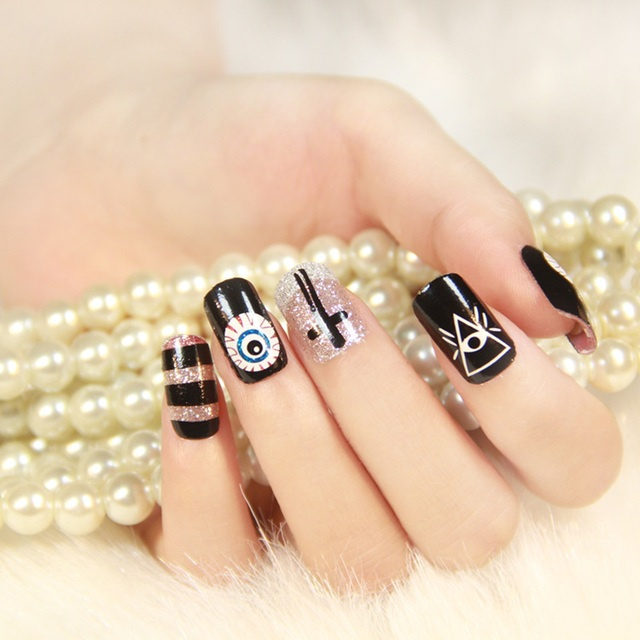 kawaii Nail Tips Carton Style Pattern Nails Art Stickers 7 Styles Choose  Manicure Decor Tools Cover - Kawaii Nail Tips Carton Style Pattern Nails Art Stickers 7 Styles
