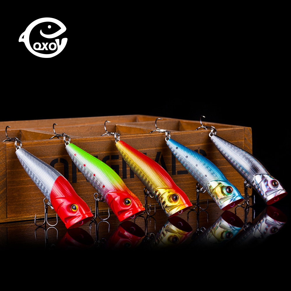 QXO Spoon Popper Jig Lure Silicone Bait Wobbler Sea Fishing Lures Jigging Surface Minnow All For Fishing 7cm 9cm Whopper Plopper bammax fishing lure 1 box metal iron hard bait sequins shore jigging spoon lures fishing connector pin fishing accessories pesca