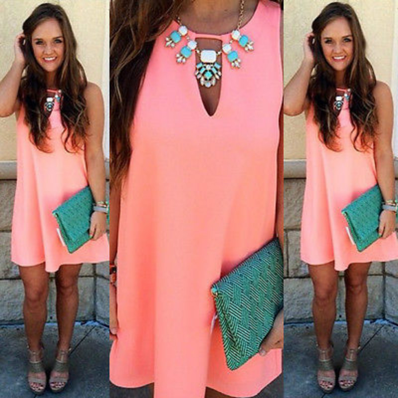 Popular Pink Orange Dress-Buy Cheap Pink Orange Dress lots from ...