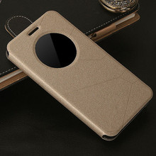 цена на mobile phone case for asus zenfone 2  zenfone2 cover ze551ml ze550ml luxury flip open window view original leather brand coque