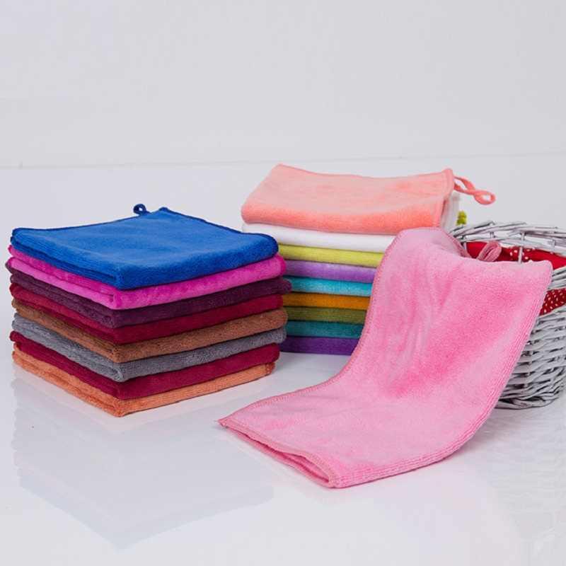 18 cores macio toalha de mão 25x25cm cozinha, casa toalha de limpeza para mulher microfibra toallas toalhas serviette de bain secagem rápida