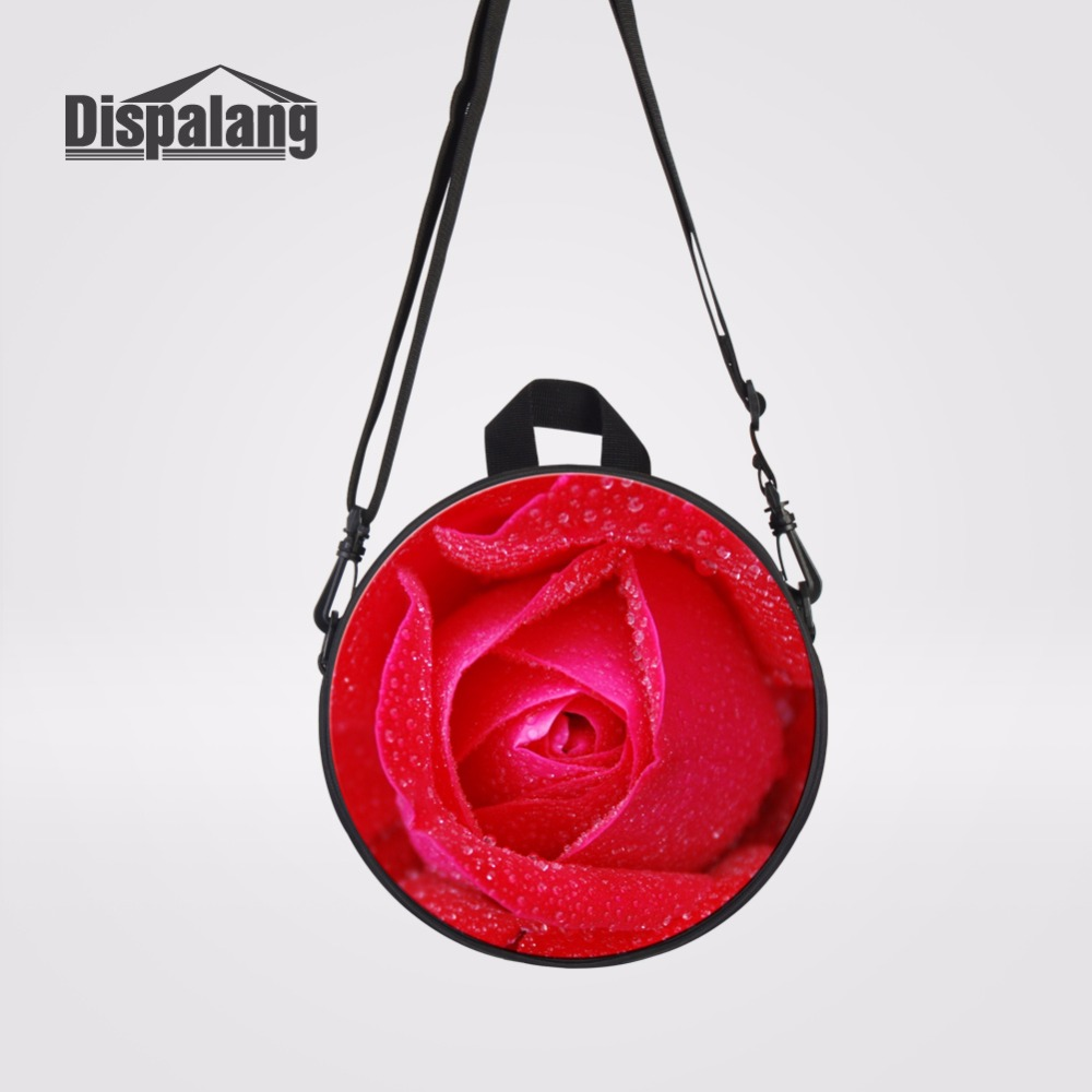 Red Rose Girls Mini Messenger Bag Flower Print Baby Outdoors Cross Body Shoulder Bags Ki ...