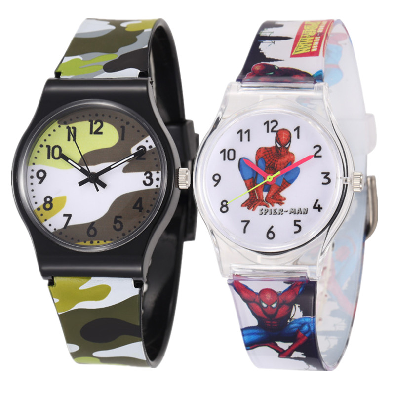 Watch For Boys Girls Cartoon Watches Children Quartz Wristwatch Rubber Watchband Quartz Wristwatches Hot Relogio Infantil