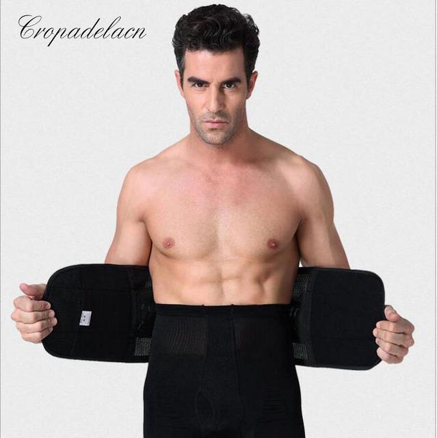 Homem forte respirável envolve a perda de Peso Cinto de Emagrecimento Abdômen Shaper Corpo Shapewear Cintura Caixilhos Formadores MR0058