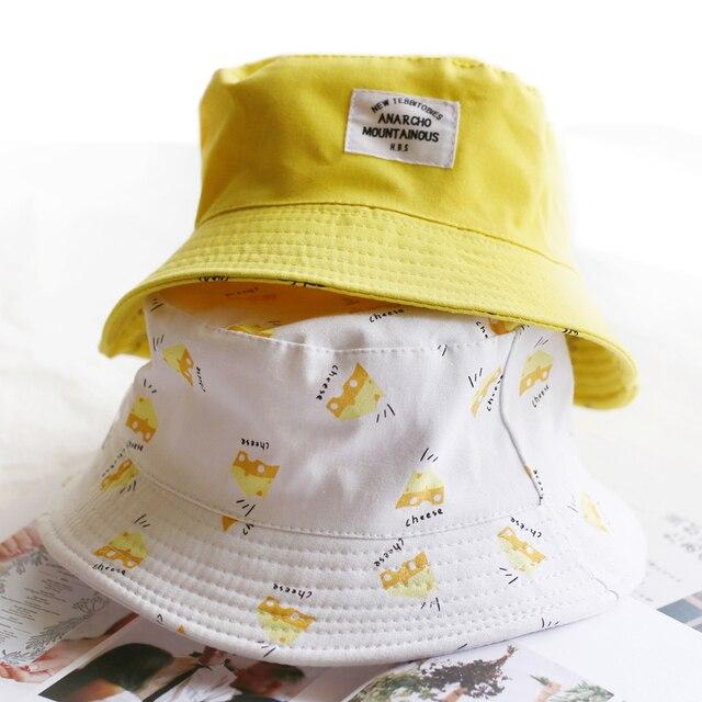 af05b27821e Panama Two Side Reversible unisex fashion Bucket Hat Bob Caps Hip Hop Gorro  Men Summer Cap sad boys Beach Sun Banana Bucket Hat