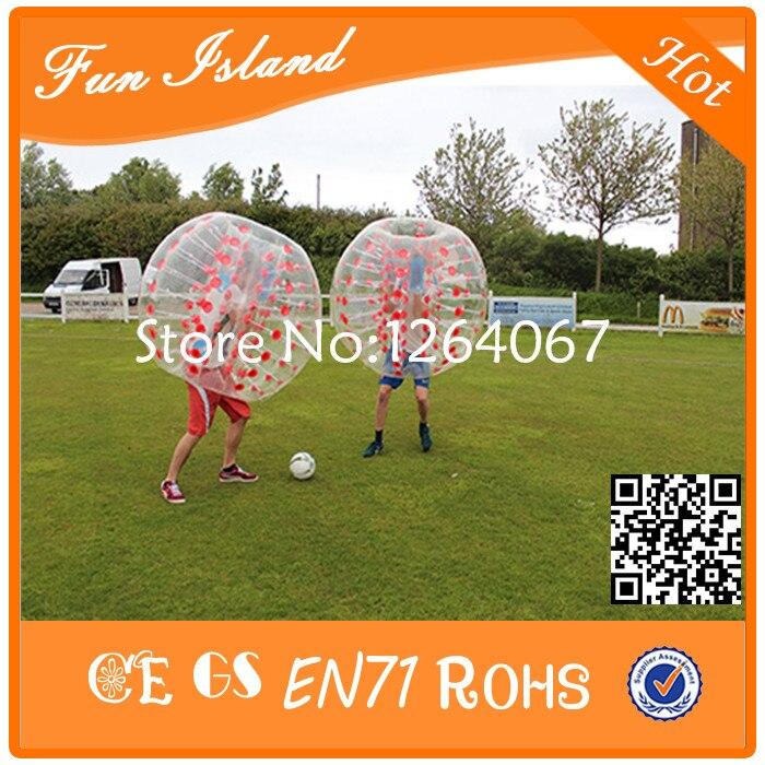 Jouets gonflables colorés de boule de Zorb de Football de bulle de 1.2 m TPU, Football gonflable de bulle de jeu de sport, boule bouclée folle - 3