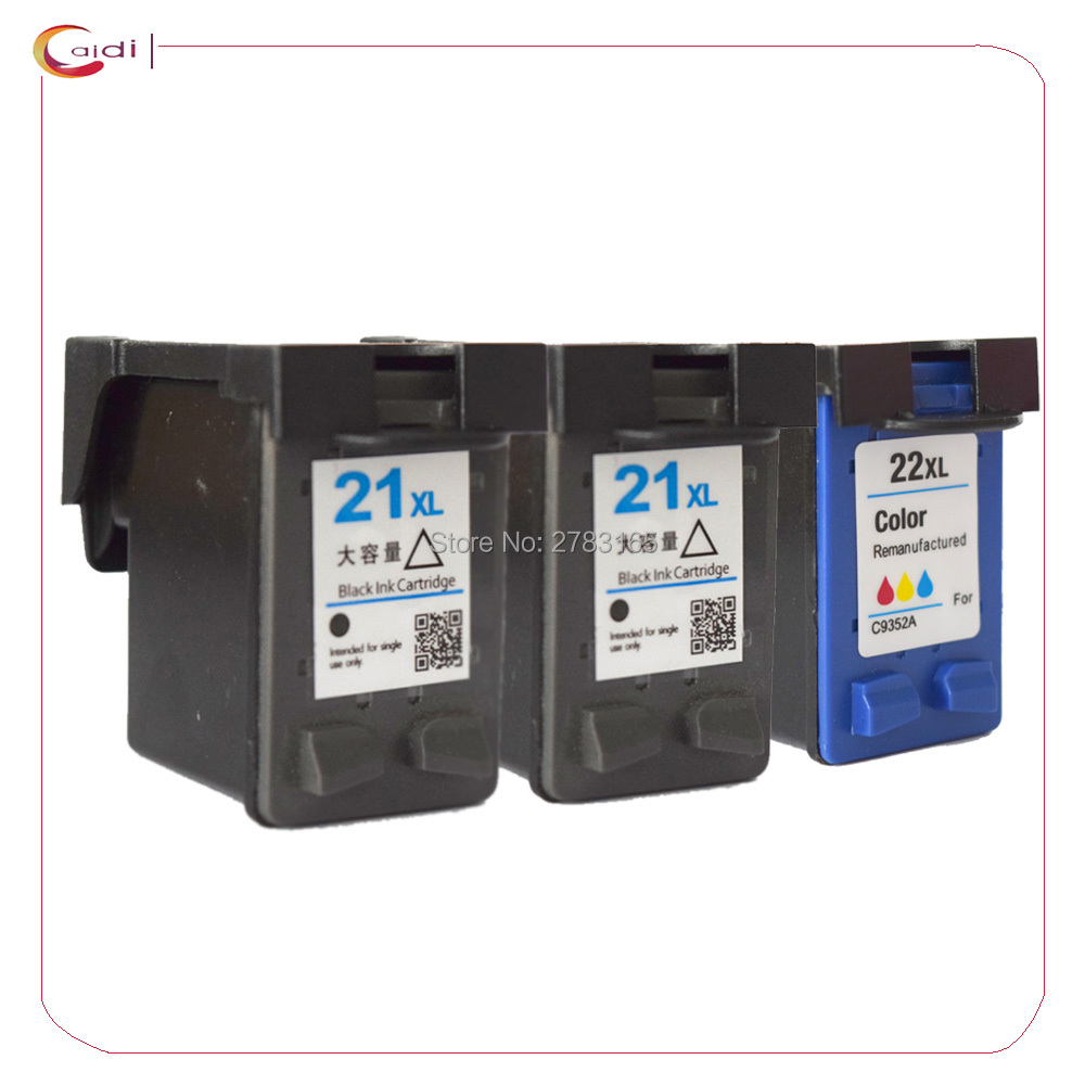 Prix pour 3 pack Compatible Cartouches D'encre pour HP 21 22 XL hp21 hp22 OfficeJet J3650 J3680 PhotoSmart 5610 5610 v 5610xi CFP 1408 1410 1410