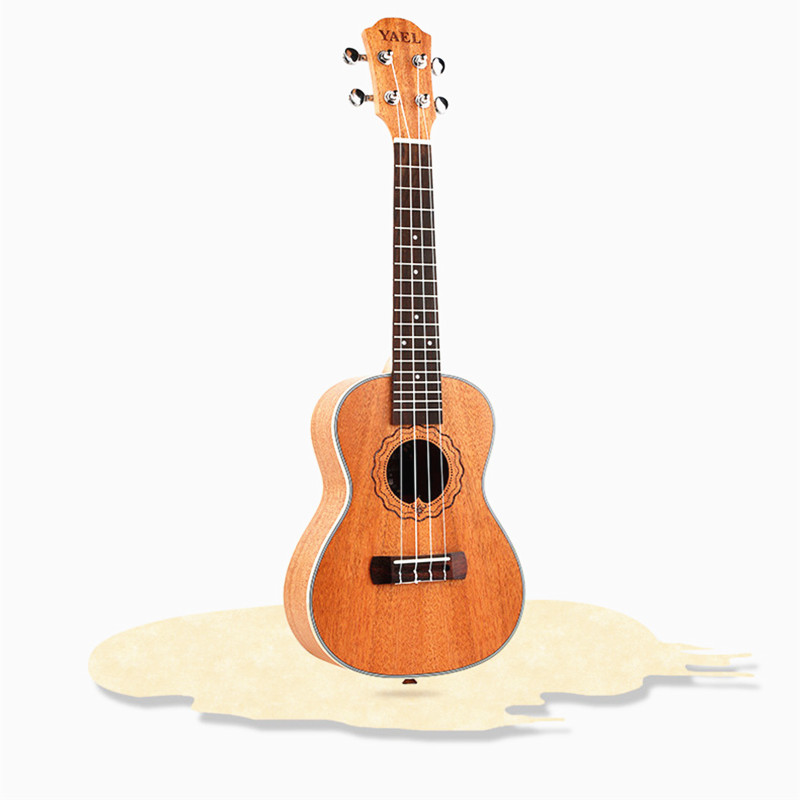23 inch Ukulele Electric Bass Guitar mahogany 4 Strings Hawaiian Guitar for Lover Beginner top quality black color 4 bass electric guitar strings 2018 china low hot guitar factory sale free shipping