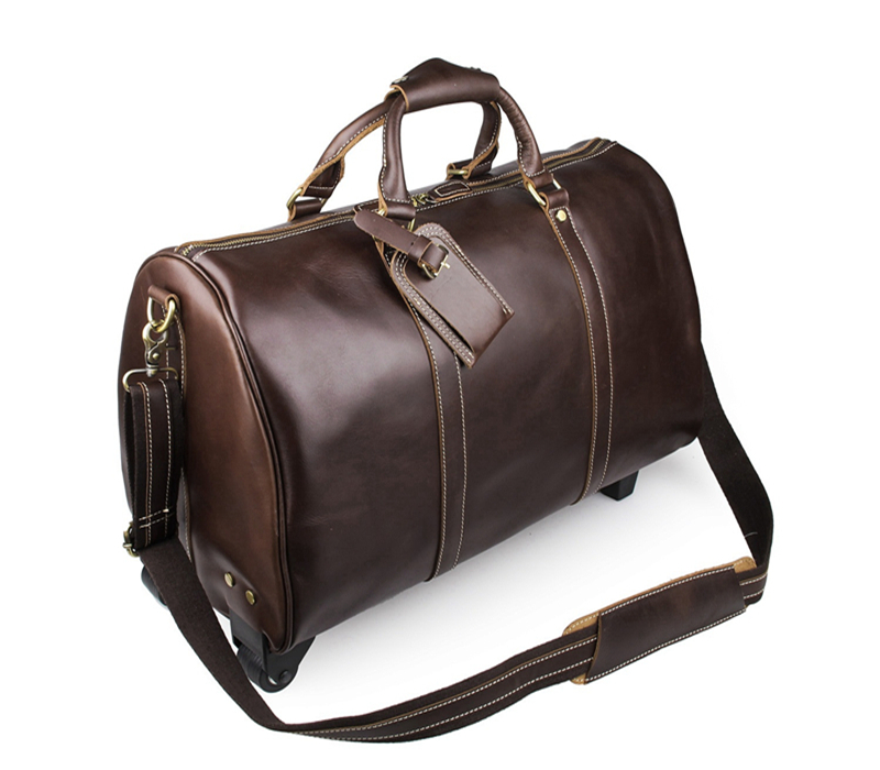 Aliexpress.com : Buy Baigio Men's Travel Bag Leather Overnight ...